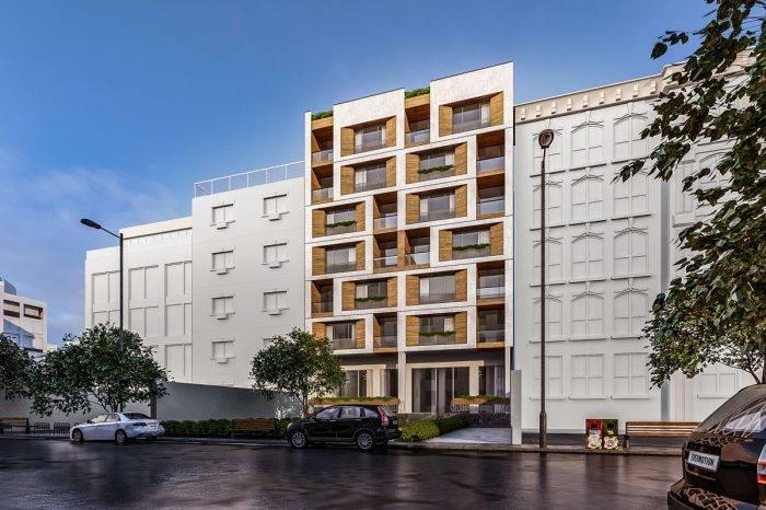 طراحی نمای ساختمان مسکونی پاسداران