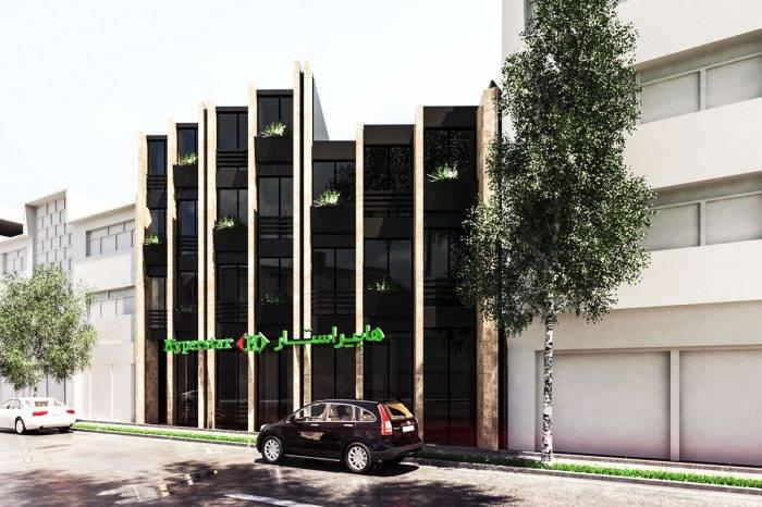 طراحی نمای ساختمان اداری فومن